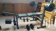 Weight Bench Press With 50kg Weights Barbell | Sports Equipment for sale in Nairobi, Imara Daima