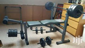 Weight Bench Press With 50kg Weights Barbell