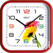 Red Square Clock With Flower | Home Accessories for sale in Nairobi, Lower Savannah