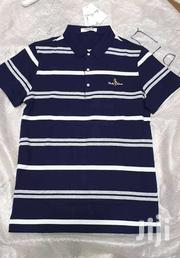 Regular Fit Short Sleeves Striped Cotton Men's Polo T-shirt | Clothing for sale in Nairobi, Nairobi Central