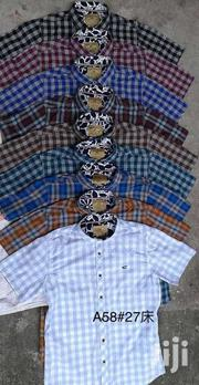 Men's Collar Slim Fit Short Sleeve Plaid Shirt | Clothing for sale in Nairobi, Nairobi Central